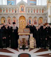 Собор посетили учащиеся Ейского казачьего кадетского корпуса